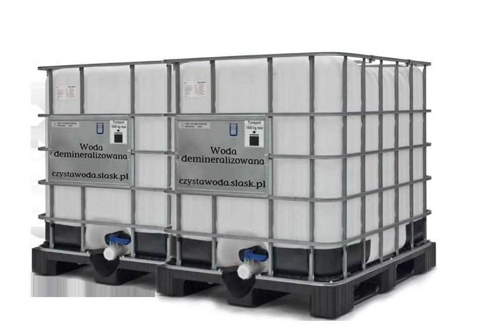 Woda demineralizowana 2m3 2000 L, 2 mauzery